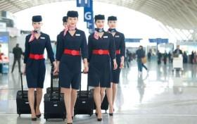 世界各国空姐大比拼,法国空姐像模特,俄罗斯空姐们,雪白的肌肤