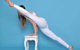 白色打底裤美女, 无疑是很优秀的